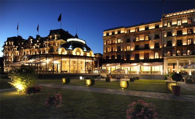 Le Beau-Rivage Palace à Lausanne.
