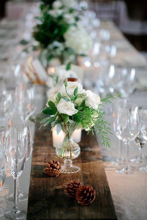 Lovely floral details at woodland inspired wedding - Elizabeth Duncan Events and Gulnara Studios | via junebugweddings.com