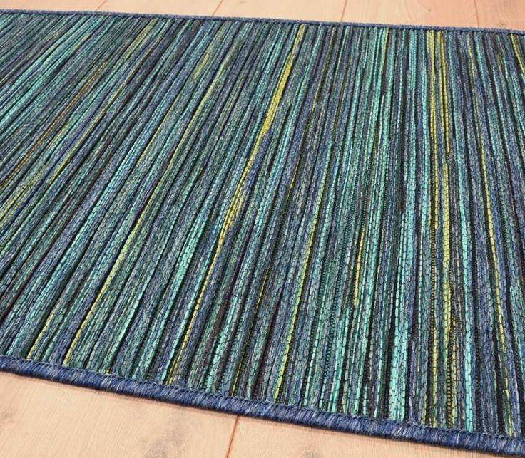 Brighton Flatweave 98122/5000 Turquoise Runner Rugs | Modern Rugs