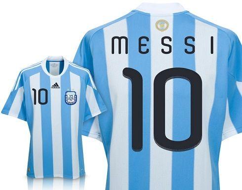 Buy 10-11 Argentina Home No.10 Messi Soccer Jersey & Short Kit - US$14.79