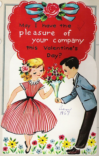 Valentine cards that we would give out at school they had so much class back then with the cards.