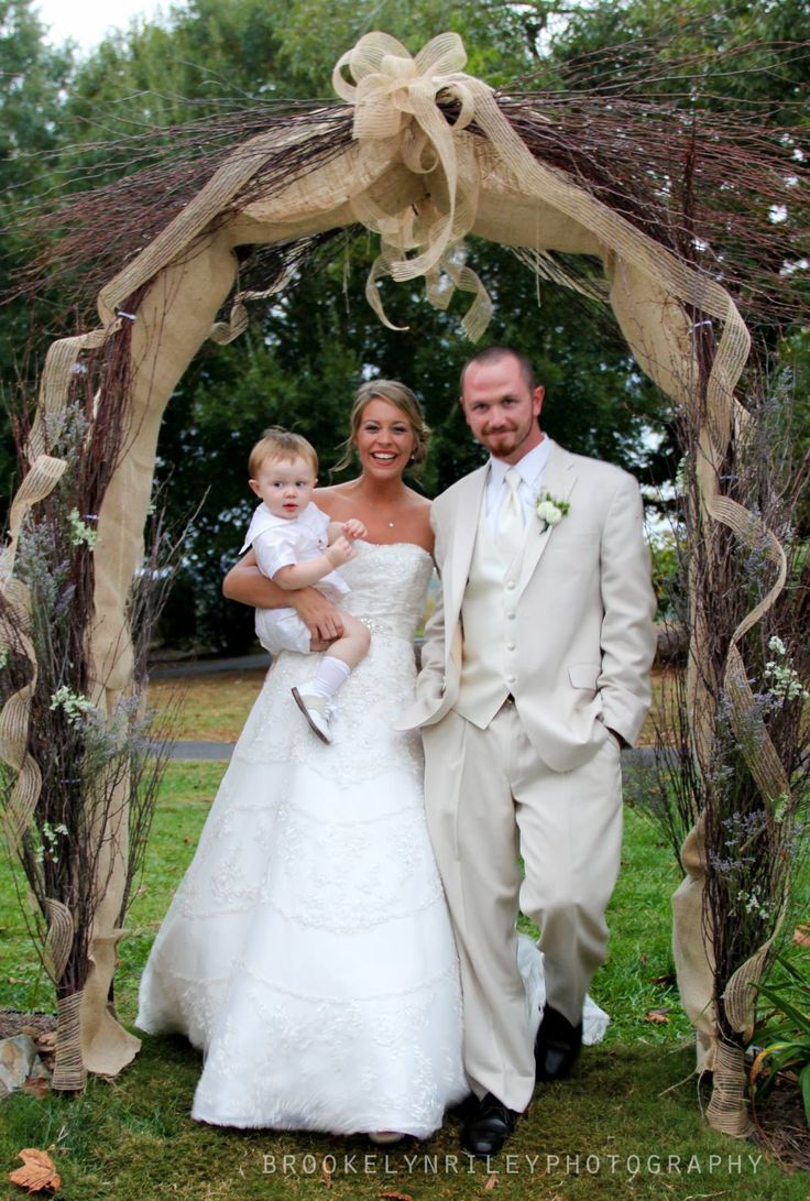Wedding archway leading to the reception in the barn at Tot Hill Farm Golf Club