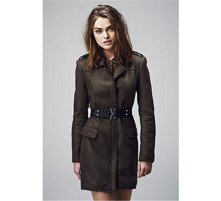 Manteau Femme IKKS, craquez sur les vêtements IKKS, le Manteau Officier Ikks prix promo IKKS E-SHOP 375,00 € TTC