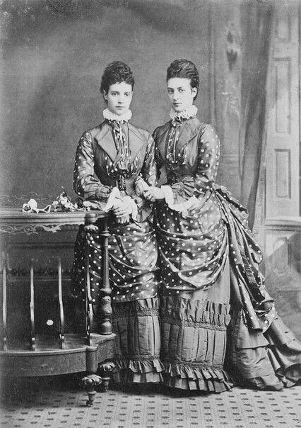 Александра Датская и цесаревна Мария Фёдоровна. 1874 г.