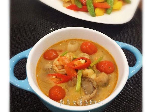 泰式酸辣蝦湯(冬陰功)食譜、作法 | 廚房女漢子-Ritas的多多開伙食譜分享