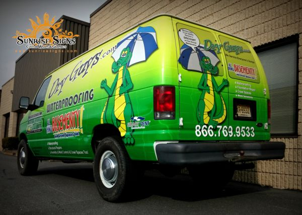 See How One Basement Waterproofing Contractor Is Reaching Their Local  Target Market With Ford Econoline Van Wraps In South Jersey!