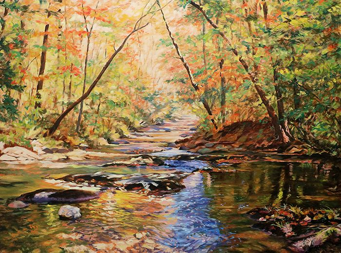 "Otter Creek by Bonnie Mason Oil ~ 36"" x 48"""