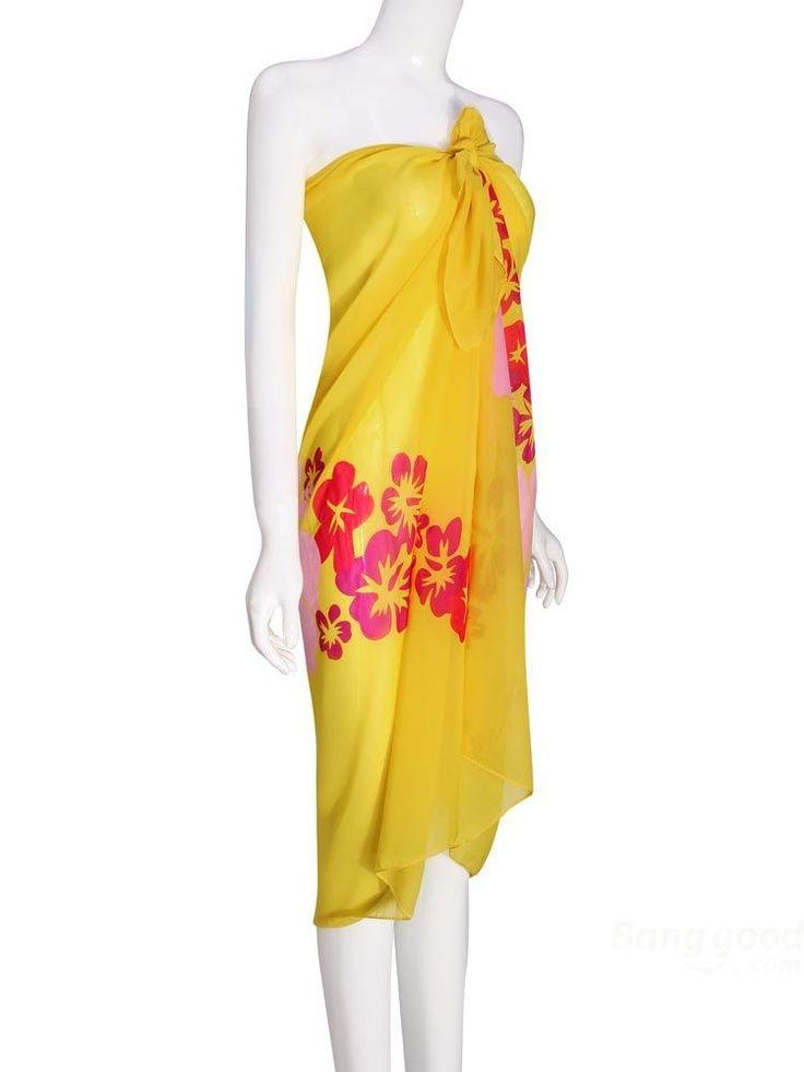 Купить товарToptrade цветы печатный шифон ремень платье желтого и синий пляжные полотенца в категории Платьяна AliExpress.       Пожалуйста, запрос, статус вашего заказа на нашем системы после отгрузки.                         Цветы печатных ш