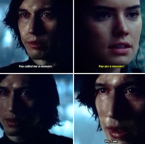 "Me:Is by Rey ""Tell him that again and I will and I will I swear to god feed you to sarlacc."" Me: *slowly walks away* 