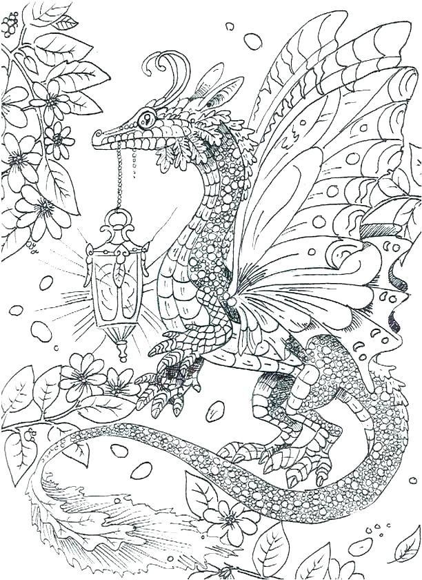 Dragon Coloring Pages For Adults Detailed Coloring Pages Dragon