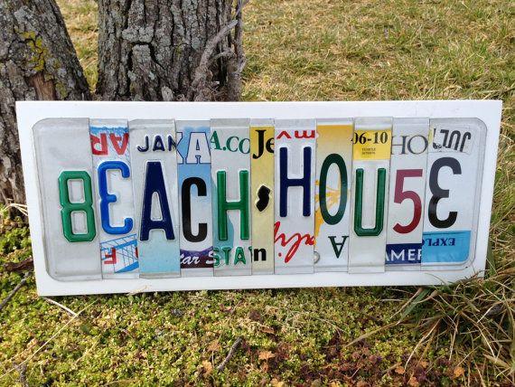 BEACH HOUSE Custom LICENSE Plate Art Sign by CustomPlateArt4U, $50.00