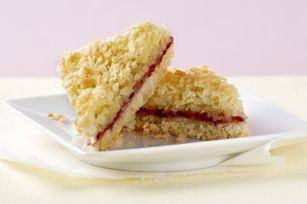 We'd wash as many bowls as we had to make these scrumptious bars! Alas, as the recipe states, they're BAKER'S ONE BOWL Raspberry-Coconut Bars.