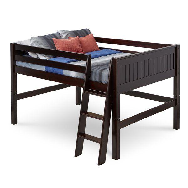 Mack Milo Oakwood Full Low Loft Bed Reviews Wayfair Low