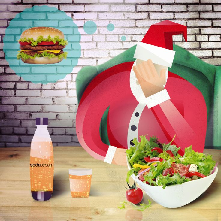 "7. ""Whining alert: I'm so tired of salads! I want yummy foods that are both healthy and delicious like Rachel Ray recipes!"". I know they exist and Mrs. Claus would be happy to make them, I just need some inspiration… Any suggestions?"" #SodaStream #GreenSanta #Christmas #gift #health"