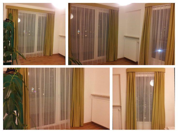 green curtains / zielone zasłony