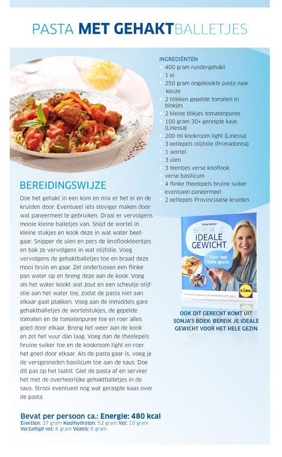 Pasta met gehaktballetjes - Lidl Nederland