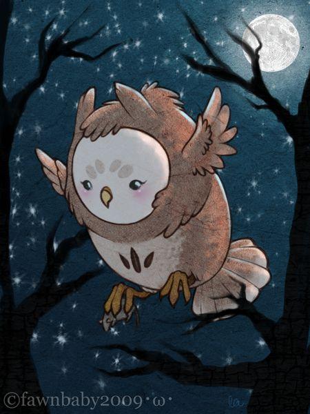 'Fluff Owl, Talons of Death' by Fawnbaby