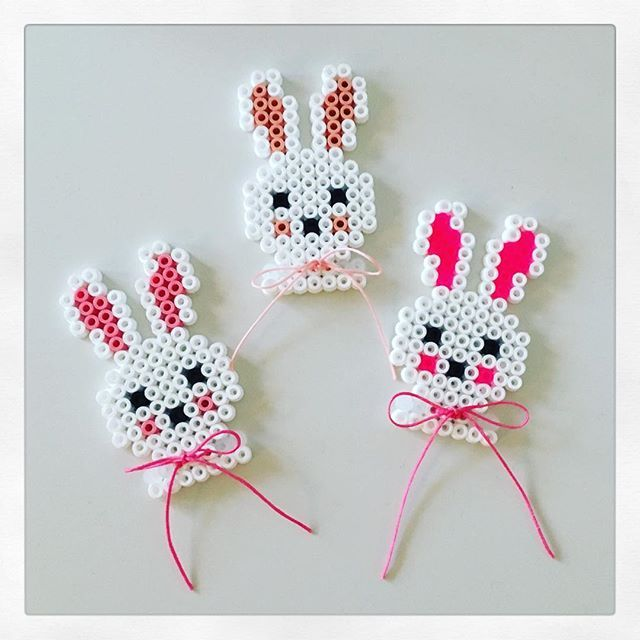 Easter bunnies hama beads by _annems_