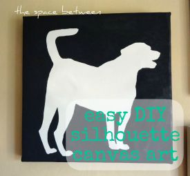 Easy DIY - Silhouette Canvass Art  the space between