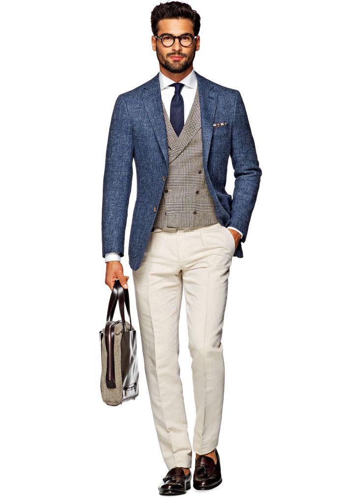 Sakko Blau Unifarben Havana C829 | Suitsupply Online Store