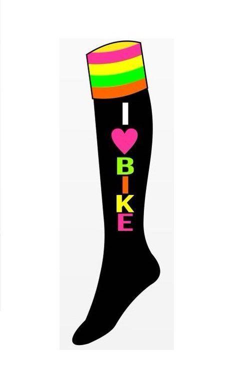 Meia Longa Ciclismo Fitness I Love Bike  b39011a4743