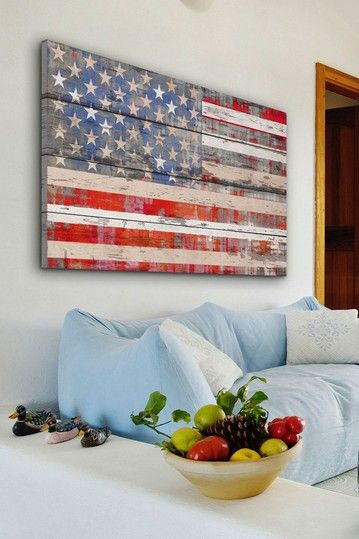 American Dream White Barn Siding Wall Art