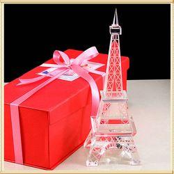 Blanco Torre Eiffel Artesanía de cristal para la decoración casera
