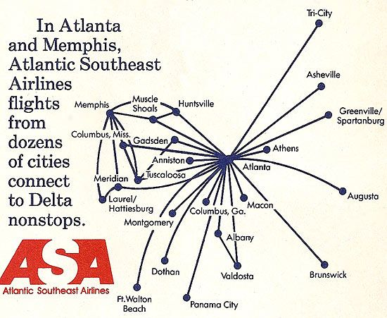 Asa Atlantic Southeast Airlines Began Service From Atlanta To Gsp In The Early Asa Later Became A Delta Connection Partner And Continued To Serve The