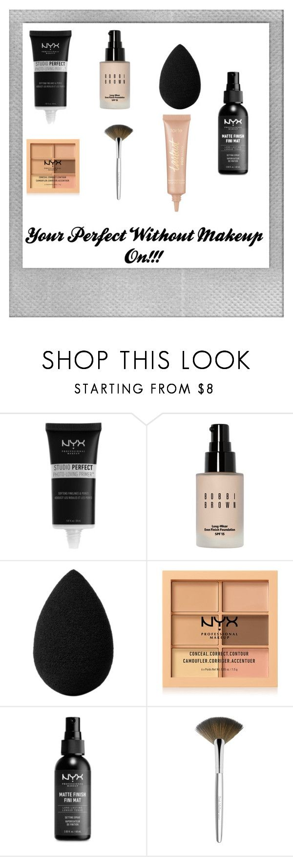 """Lazy Day Makeup"" by kiyakay7 ❤ liked on Polyvore featuring Polaroid, NYX, Bobbi Brown Cosmetics, beautyblender, Trish McEvoy and tarte"