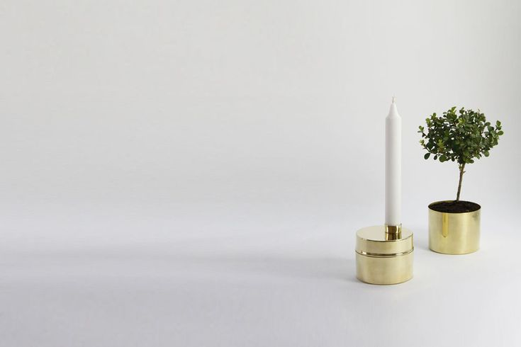 CANDLE JAR made ​​of brass and copper.  Designed by Anya Sebton  and Eva Lilja Löwenhielm. Handmade in Sweden.
