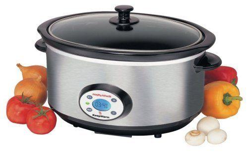 Morphy Richards 48730 Mijoteuse 350 W Programmable de 4 à 12 heures Couvercle en verre Pot de 6,5 litre en terre cuite de Morphy Richards, http://www.amazon.fr/dp/B00013JWVO/ref=cm_sw_r_pi_dp_33Tysb1MQ1SWA
