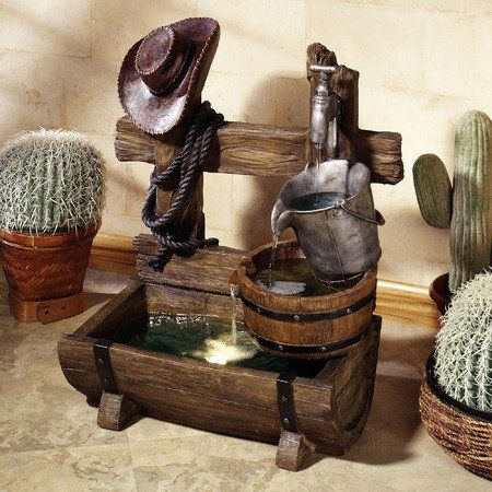 Southwest Theme Ranch Living Water Fountain Indoor-Outdoor