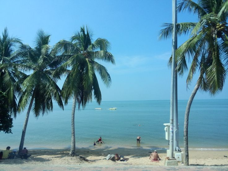 Jomtien Beach at Pattaya in Thailand
