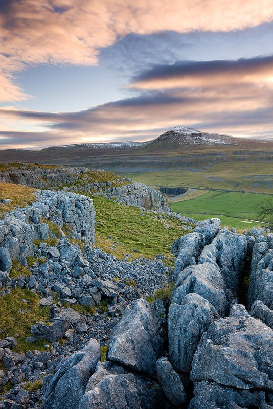 Twistleton Scar, Yorkshire Dales National Park, U.K.  Photo: Adam Burton