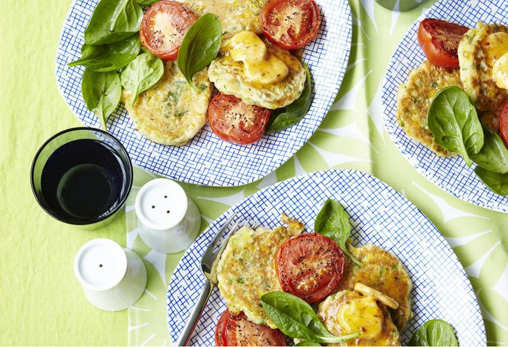 Served with roasted tomatoes these little sweetcorn pancakes are a quick and easy midweek meal. The chipotle butter makes them that little bit more special.