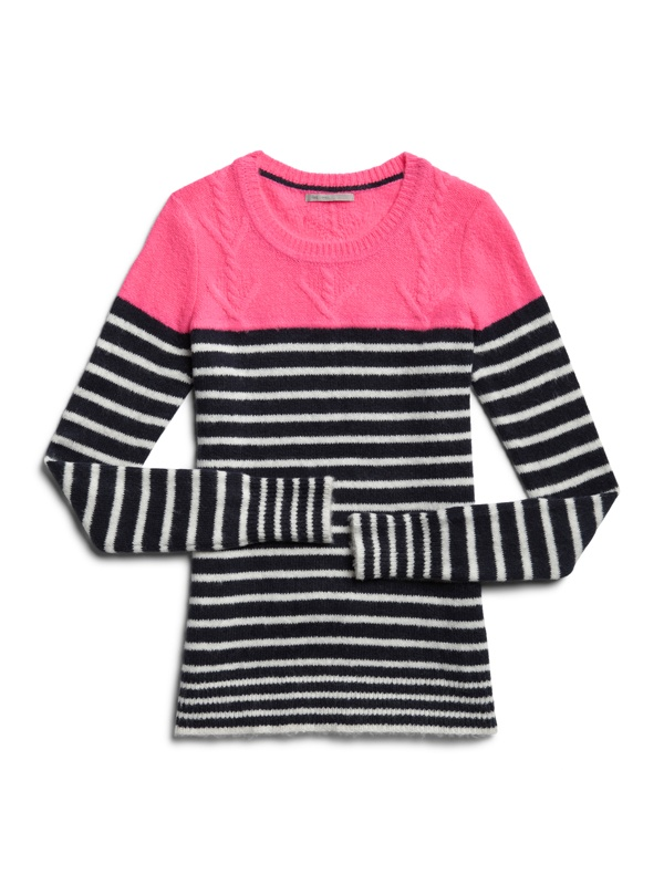 Color block stripe cable sweater #GapLove Pin your wishlist here: gap.us/PinToWin