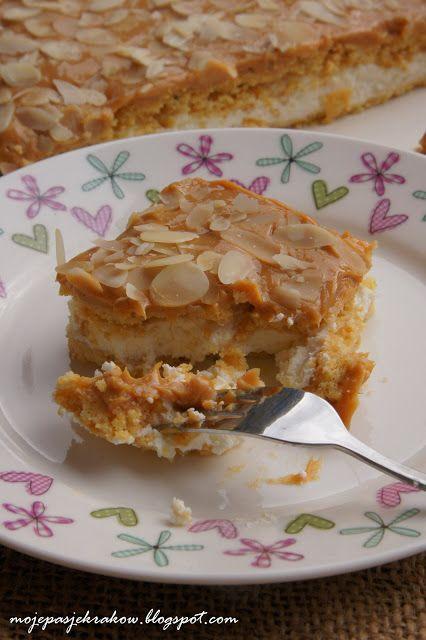Ciasto karmelowe ze śmietaną - krówka