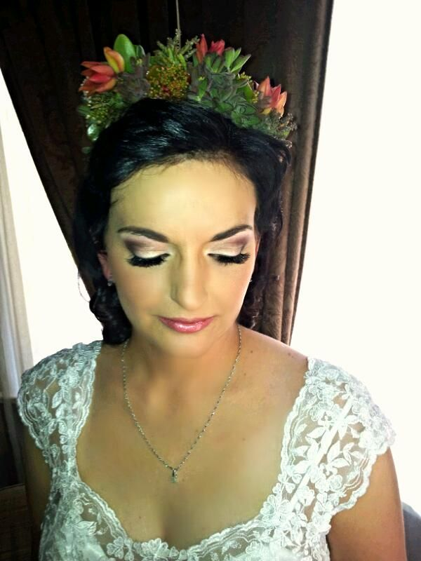 Bridal succulent crown made by Oak House venue in Cullinan