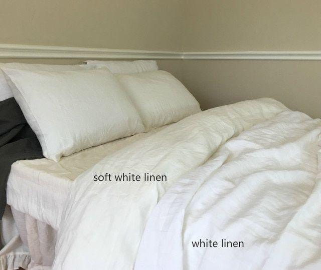Soft White Linen Duvet Cover White Linen Duvet Covers Linen Duvet Covers White Bedding