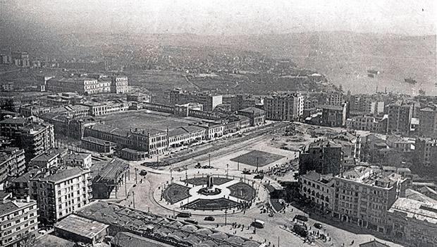 İstanbul semtlerinden tarihi fotoğraflar Taksim Meydanı 1929