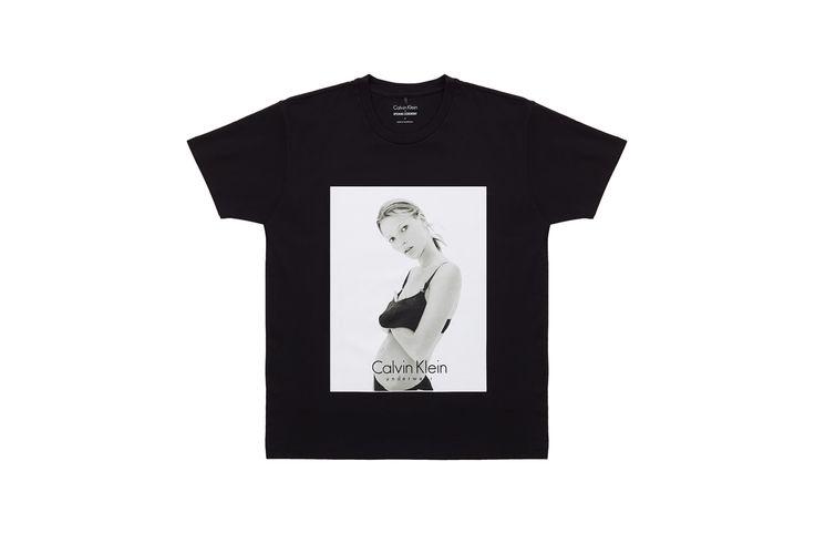 미국을 대표하는 미니멀리즘 기반의 브랜드 '캘빈 클라인(Calvin Klein)'과 편집샵이자 하나의 패션 브랜드인 '오프닝 세리머니(Opening Ceremony)'에서 90년대의 아이콘 '케이트 모스(Kate Moss)'를 기념하기 위한 협업 티셔츠를 발매했습니다.