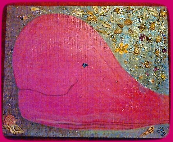 """""""Pink-Rosa"""" Jul-2012 by CH Original, acrylics, mixed media on canvas. 10"""" x 8"""""""