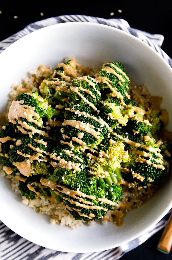 Simple Sesame-Ginger Broccoli Macro Bowl