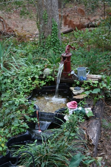 Fish pond water fall