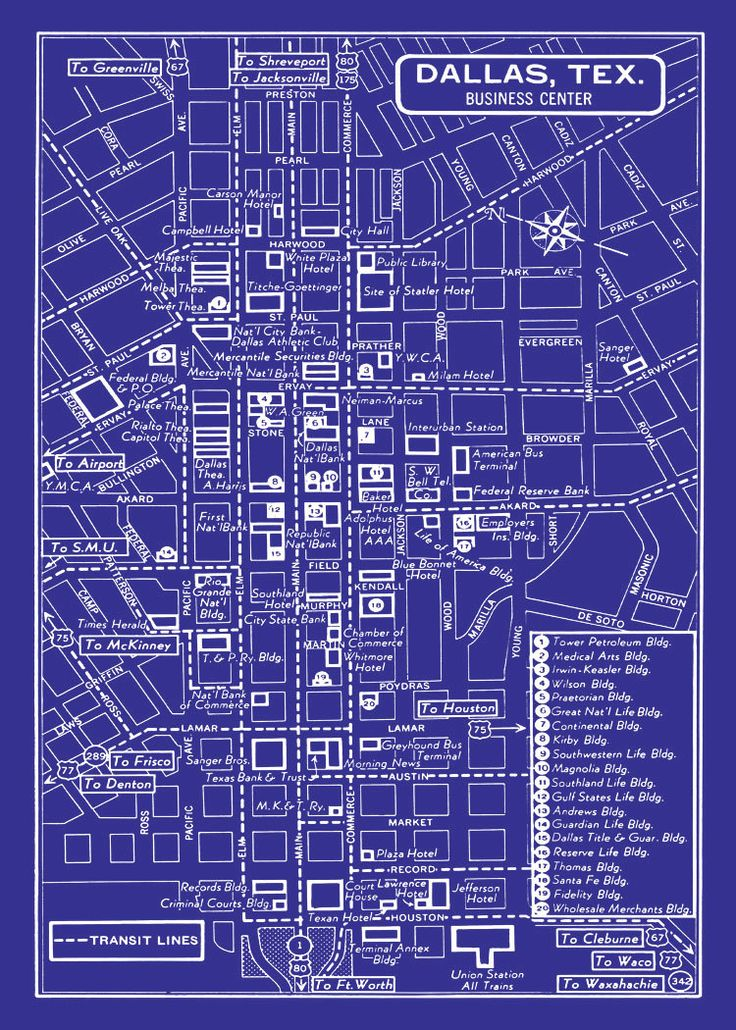 653 best dallas neighborhood finds images by magpie kelly on 1949 vintage map of downtown dallas blueprint map print poster malvernweather Gallery