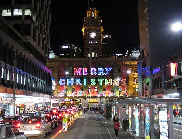 Christmas Eve @ Flinders Street Station   Flickr - Photo Sharing!