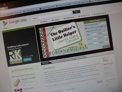 Robert Kaufman Quilting Calculator App Review   Minneapolis Modern Quilt Guild