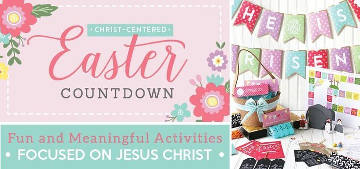 Easter ideas for kids with Christ-Centered Countdown to Easter ... Perfect way to keep Christ the focus of Easter