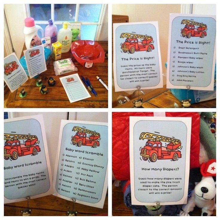 Attractive Firefighter Baby Shower Ideas | Games For Firefighter/fireman/firetruck Themed  Baby .