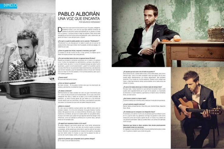 Pablo Alborán en la Revista Venue Julio 2012